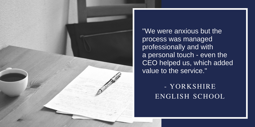 """We were anxious but the process was managed professionally and with a personal touch - even the CEO helped us, which added value to the service."""