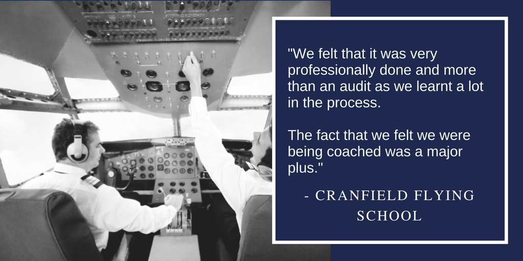 """We felt that it was very professionally done and more than an audit as we learnt a lot in the process. The fact that we felt we were being coached was a major plus."""
