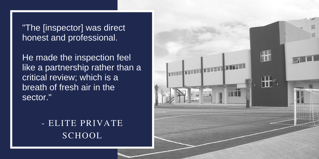 """The [inspector] was direct honest and professional. He made the inspection feel like a partnership rather than a critical review; which is a breath of fresh air in the sector."""