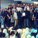 ASIC Accreditation Certificate being presented to Crescent International School